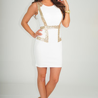 All You Ever Wanted Dress: White/Gold