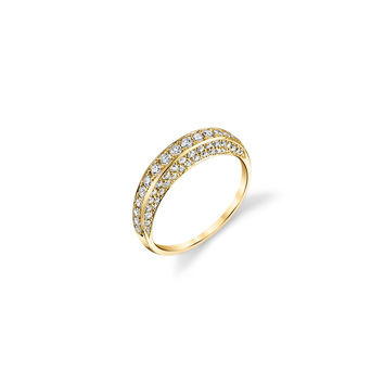 Thin White Diamond Dome Ring