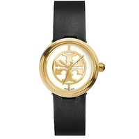 Tory Burch Black Leather/gold-tone, 28 Mm