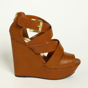 CRISS CROSS STRAPPY WEDGES