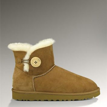 UGG Mini Bailey Button Boots 3352 Chestnut
