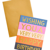 Colorblock Birthday Card