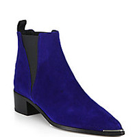 Acne Studios - Jensen Suede Metal-Tip Ankle Boots - Saks Fifth Avenue Mobile