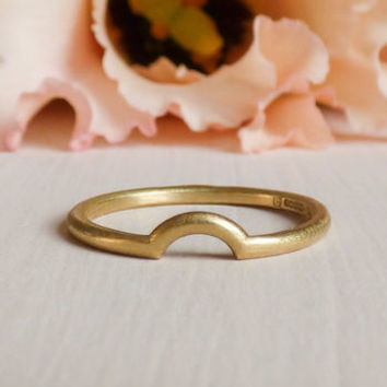Macha 18ct Fairtrade Gold Ethical Wedding Ring