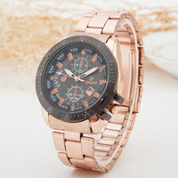 Designer's Trendy Gift New Arrival Awesome Good Price Great Deal Men Stainless Steel Stylish Quartz Watch [6542573699]