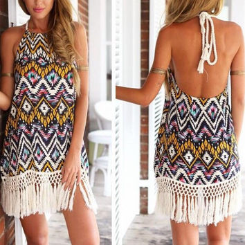 Boho Tribal Dress