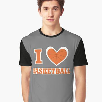 'I love Basketball T-Shirt' T-Shirt by freewayart