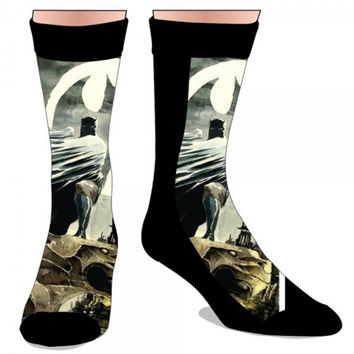 Batman Batsignal Sublimated Crew Socks