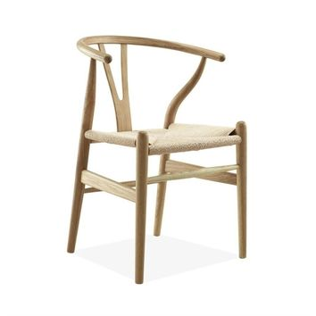 Reproduction of Hans J. Wegner Wishbone Chair CH24 Y Chair - Ash | GFURN