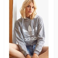 VONE05 Gray Adidas Print Women's Long Sleeve Hoodies Sweater Tagre-