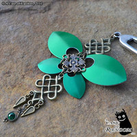 Steel ButterflyCelticflavored green and brass by acaseofrandom