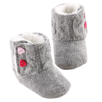 Delicate Hot 3-18 moth Infant Baby Girls Winter Shoes Knitted Warm Snow Boots Warm Pre walker First Walkers nor51224 P14