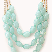 FOREVER 21 Chic Faux Gemstone Necklace