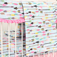 Baby Blanket | Tribal Girl Crib Bedding