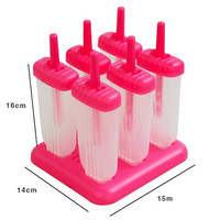 New 6 Cell Frozen Ice Cream Popsicle Maker Lolly Mould Tray Pan Kitchen DIY Pop Mold