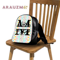 Monogram Aztec Backpack with unique design