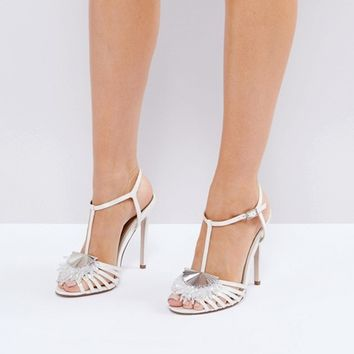 ASOS HONEY BLOOM Bridal Embellished Heeled Sandals at asos.com