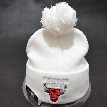 Chicago bulls Women Men Embroidery Beanies Knit Hat Cap-13