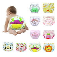 new 1 Pcs Baby Boys Girls Washable Diapers Cute Cloth new Reusable Diapers Nappies Cotton Training Panties Diapers ADS8 ZT
