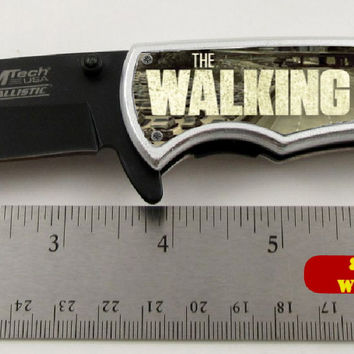 "The Walking Dead Zombie Killer Limited Edition Spring Assisted Knife 4.5"" closed"