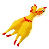 Dog Toys Rooster Chew Toy For Puppy Dog Cat Pet Squeak Toys Screaming Rubber Chi
