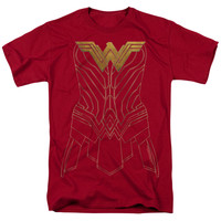Wonder Woman Movie Armor Outline Mens T-Shirt