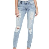 GUESS Women's 1981 Skinny Jean with Foil Splatter