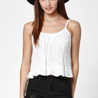 Kendall and Kylie Embroidered Open Back Tank Top at PacSun.com