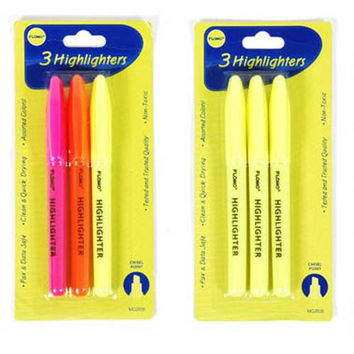 3 pack Chisel Point Highlighters