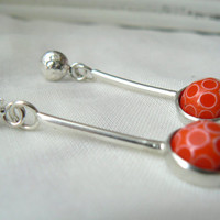 Red Candy Sterling silver and Vintage by VirginieMartinStudio