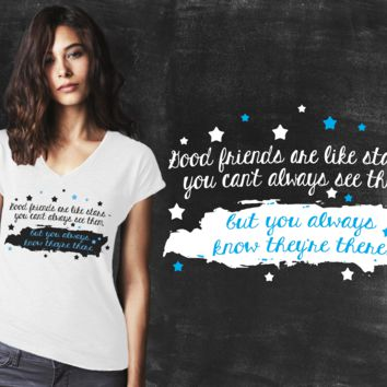 Good Friends Are Like Stars Graphic T-shirt