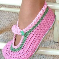 Mary Jane Slippers Crochet Pattern