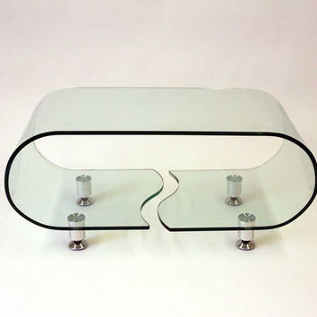 GLASS COFFEE TABLE A090 BY J&M