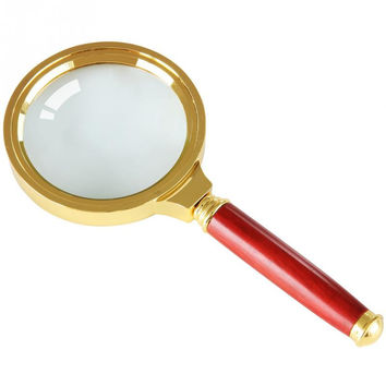 80x165mm, 60x150mm, 90x185mm Handheld Glass lens 10X Magnifier Magnifying Glass Loupe Reading Jewelry