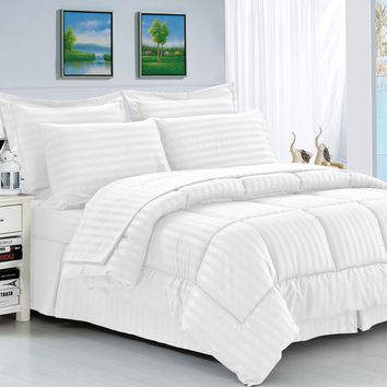 Classic Stripped Reversible Comforter Set