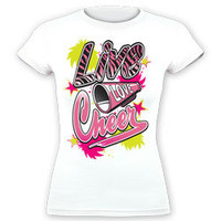 Fitted Pink Zebra Graphic Live Love Cheer Printed T-Shirt