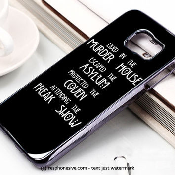 American Horror Story Four Seasons Samsung Galaxy S6 and S6 Edge Case
