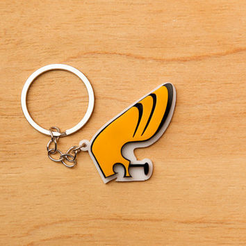 Johnny Bravo Keychain  Laser Cut Acrylic by SpaceSheepLaser