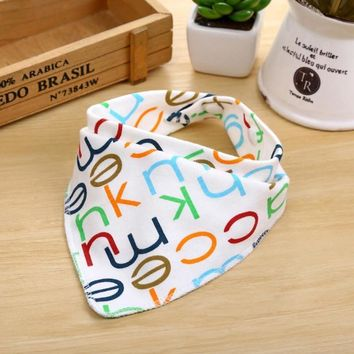 Cartoon Newborn Baby Burp Bandana Bibs Cotton Soft Kids Toddler Triangle Scarf Bib Cool Accessories Infant Saliva Towel