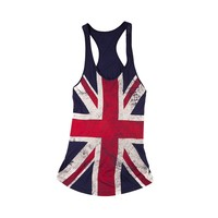 Girls Union Tank , Navy | Journeys Shoes