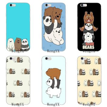 kawaii we bare bears Ultra Thin Soft phone case For Huawei Mate 7 8 9 10 lite Pro Y3 Y5 Y6 II Pro Y7 GR5 2017