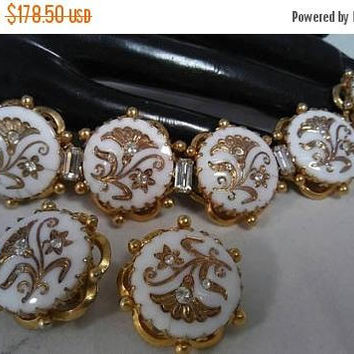 On Sale Kramer Rhinestone  Earring & Bracelet Set, High End Designer Hard To Rind Rare Jewelry Demi Mid Century 1950's 1960's Parure