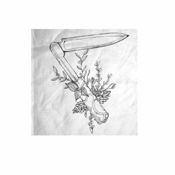 Knife and Flowers