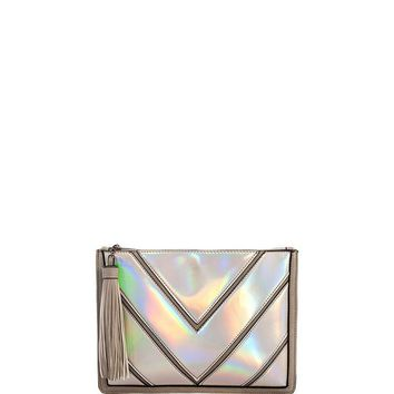 Holly Hologram Clutch Bag