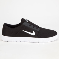 Nike Sb Portmore Renew Mens Shoes Black/White  In Sizes