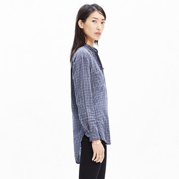 Collarless Popover Shirt in Abilene Plaid