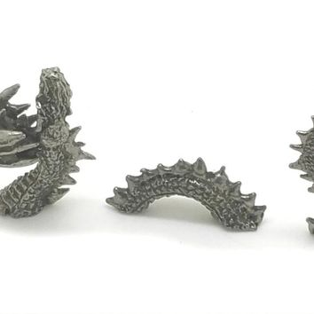 New Mermaid Riding Loch Ness Monster Sea Serpent Pewter Figurine  Lead Free