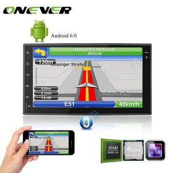 """Onever 7"""" Android Autoradio GPS Bluetooth Car Stereo Player Capacitive Touch Screen 1G/16G Support USB WIFI Reversing Camera"""