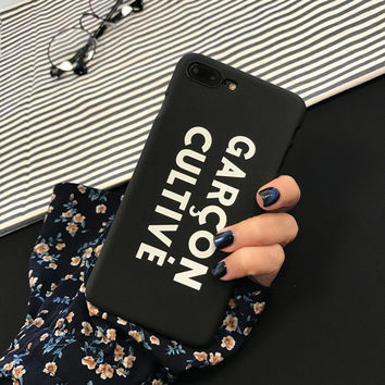 Ultra thin Letter Word for IPhone 6 6s 6plus 6s plus 7Case Simple Fashion Frosted Mobile Phone Cover for IPhone 7 Plus Capa -0329