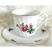 Vintage Rose Teacups (Tea Cups) includes 6 Tea Cups & 6 Saucers at Cheap Price $5.95 Shipping or Add 1 More Set for FREE Shipping!